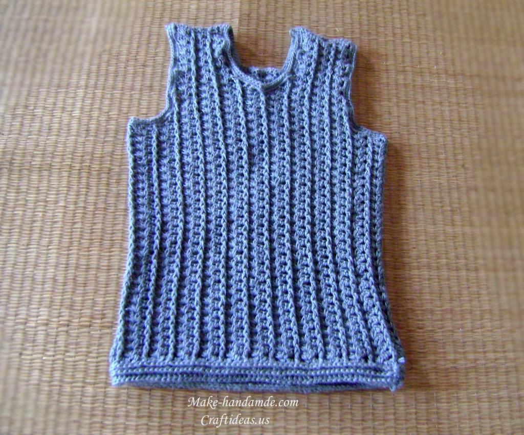 Crochet baby boy vest