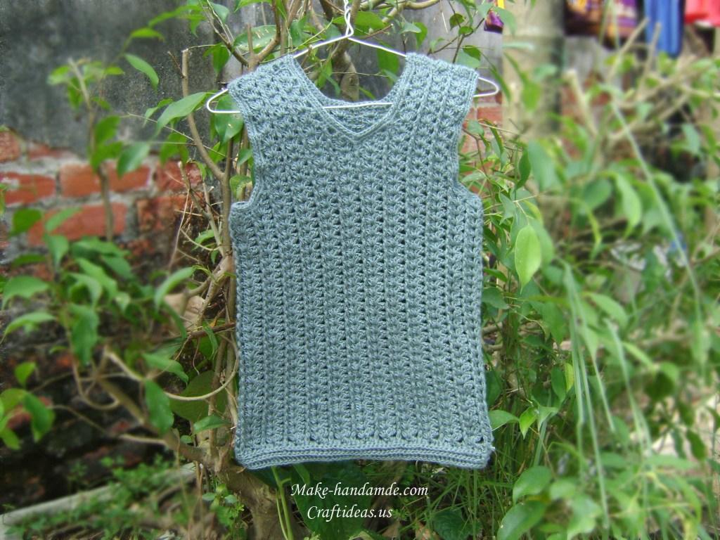 Crochet baby vest