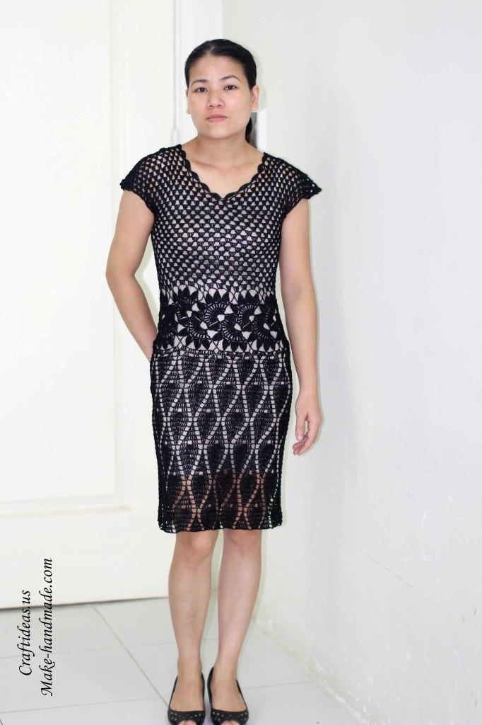 Crochet lace dress for beach idea