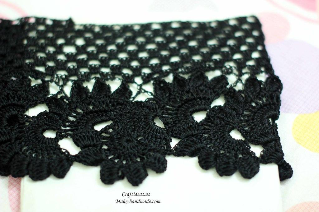 Crochet lace summer dress for beach