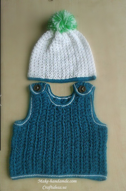 Crochet Cute Baby Boy Vest Craft Ideas