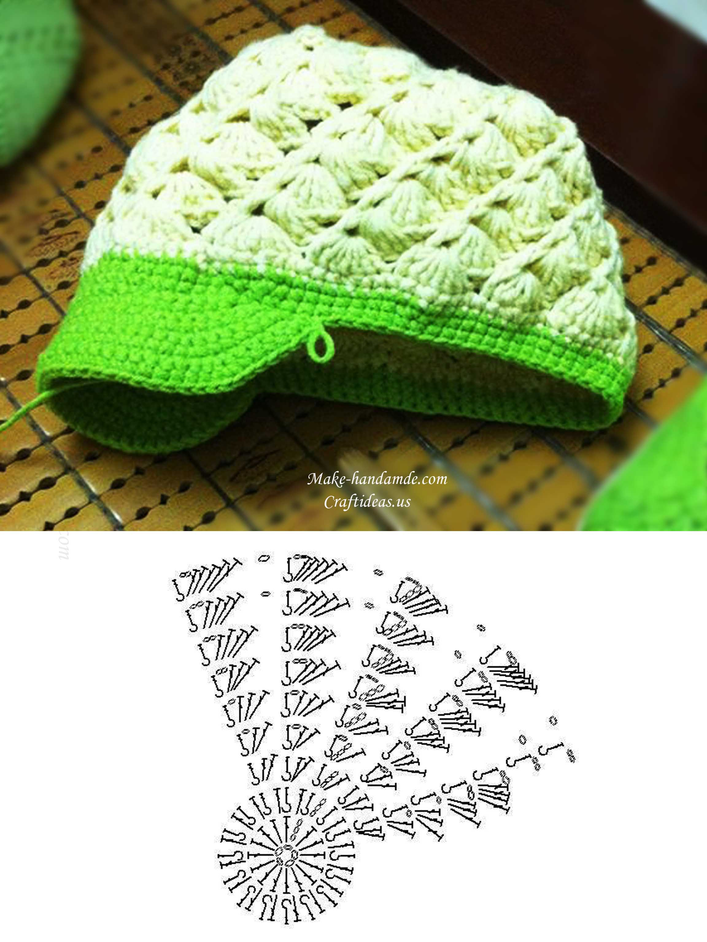Crochet cute baby brim and hat craft ideas crochet baby hat and brim chart ccuart Image collections