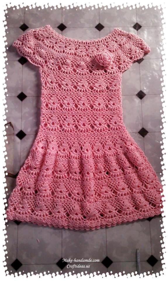 Crochet beautiful lace dress for women craft ideas for Craft ideas for women