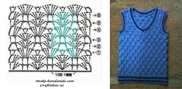 Crochet Cable Baby Vest Craft Ideas