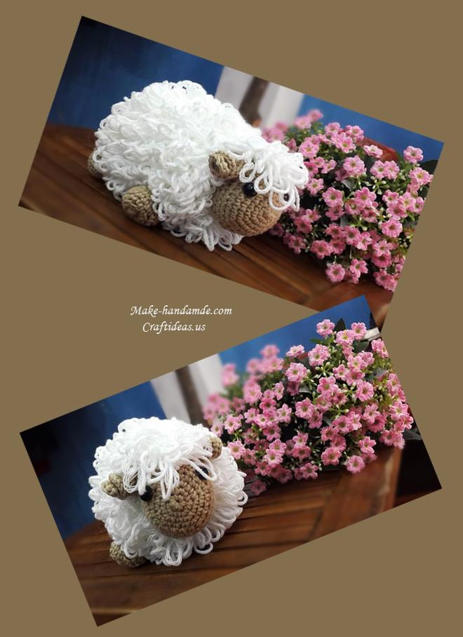 Crochet Amigurumi Ideas : Amigurumi: Crochet cute sheep - Craft Ideas