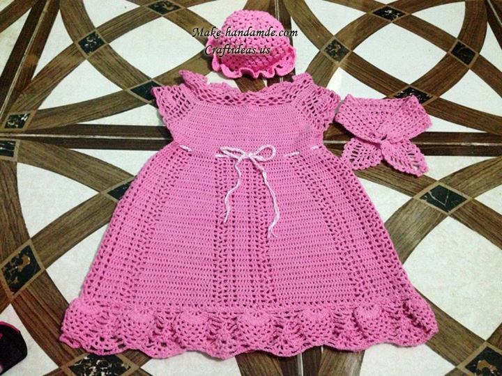 crochet baby dress and fashion