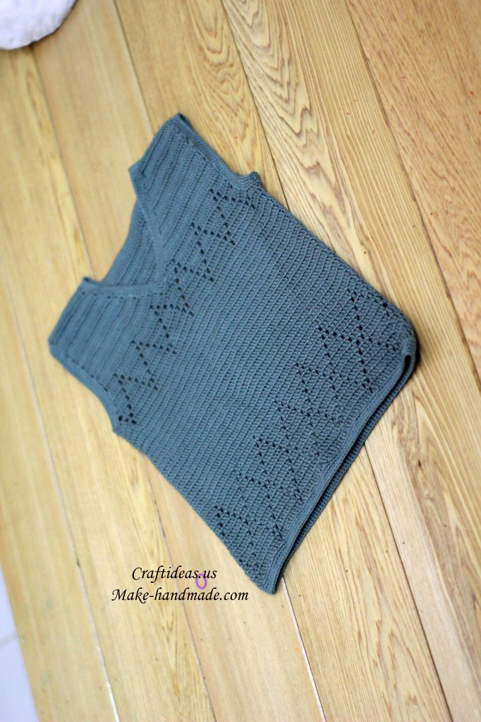 crochet baby gilet for baby boy