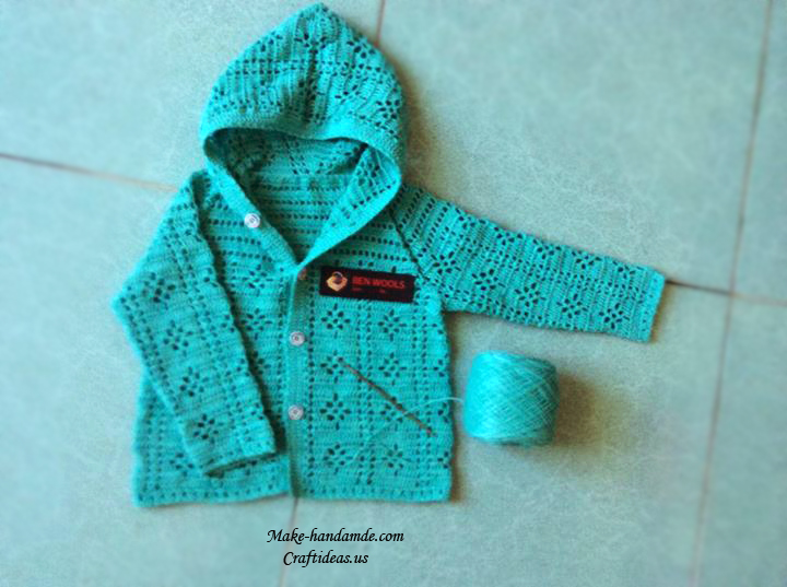 crochet baby jacket and cardigan