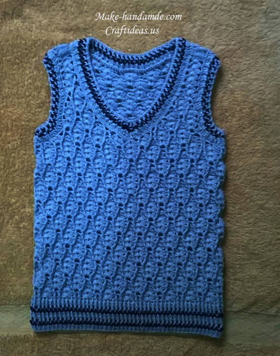 Crochet Baby Sweater Vest Pattern - Long Sweater Jacket