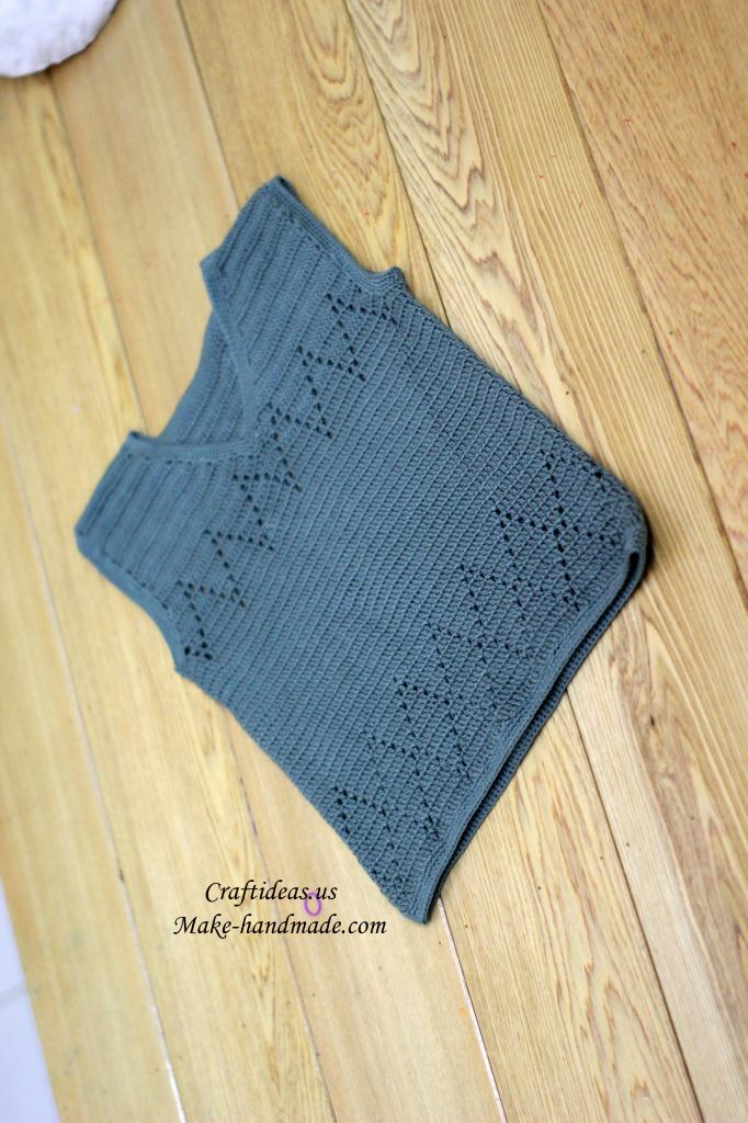 crochet easy baby gilet