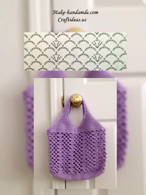 crochet easy bag chart