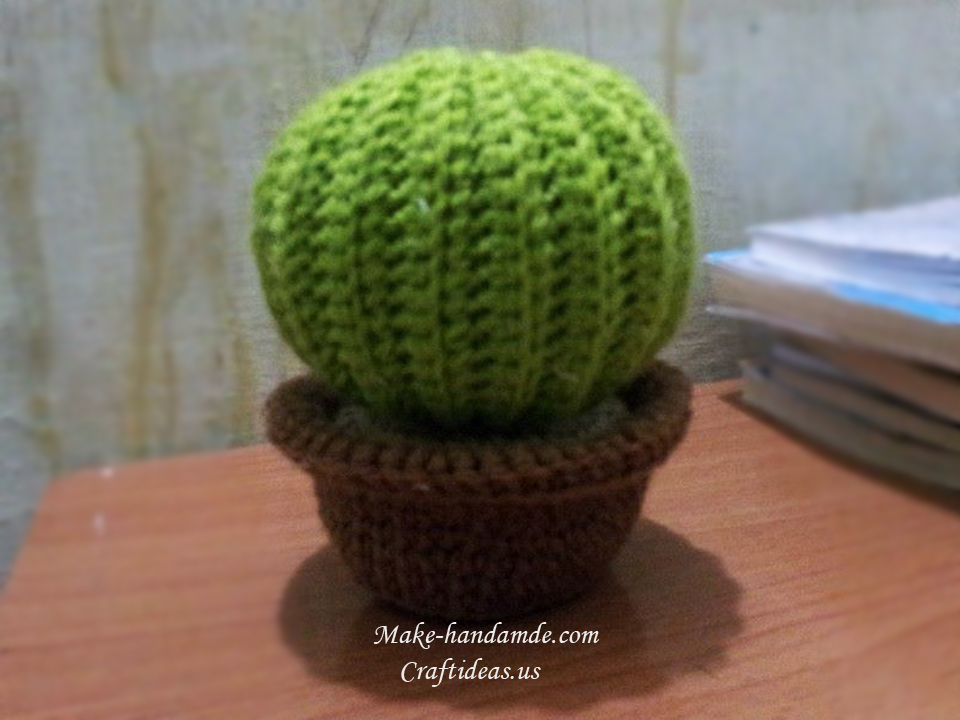 Crochet round cactus ideas craft ideas for Crochet crafts for kids