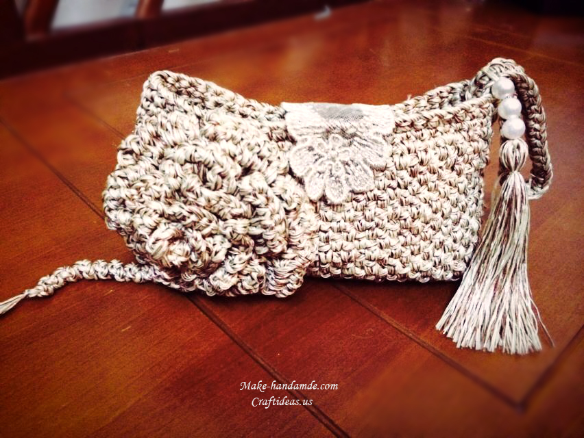 Crochet Purse Ideas : Crochet beauty purse for girl - Craft Ideas