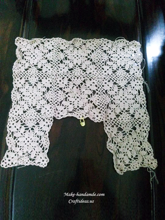 Crochet Lace Vest And Cardigan For Girl Craft Ideas