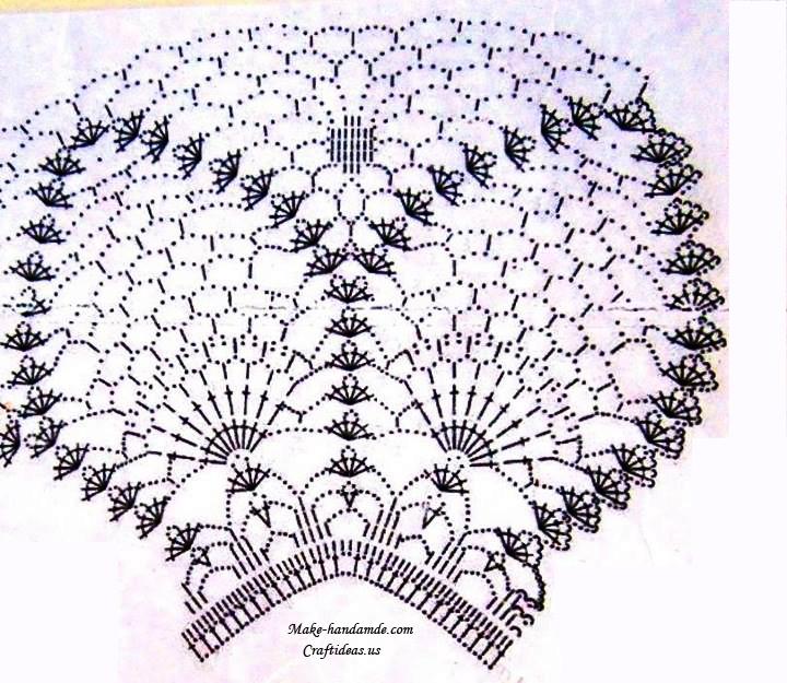 crochet lace top for summer, crochet chart