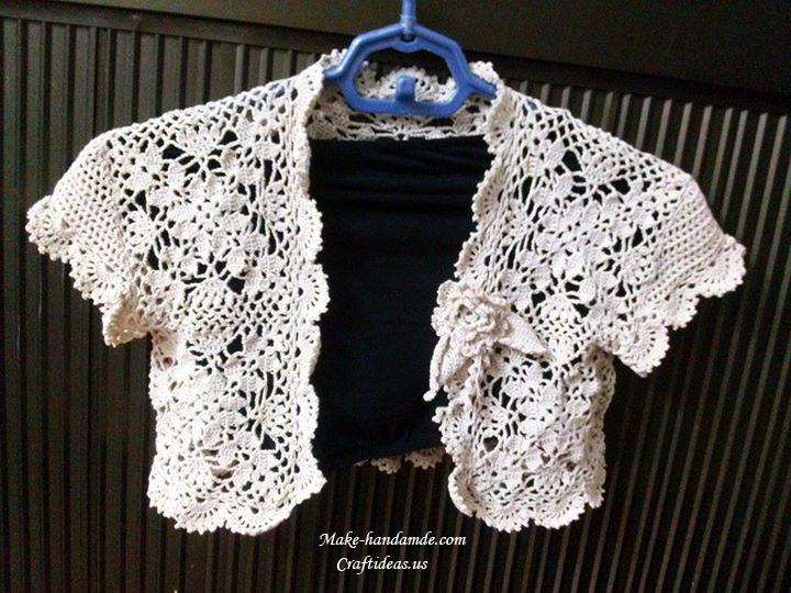 Crochet lace vest and cardigan for girl - Craft Ideas