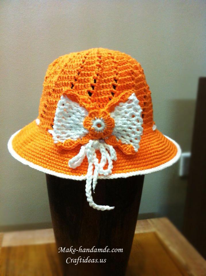 crochet summer hat for beach