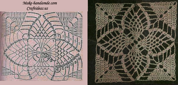 Beauty Granny Square For Crocheted Lace Top And Dress Craft Ideas