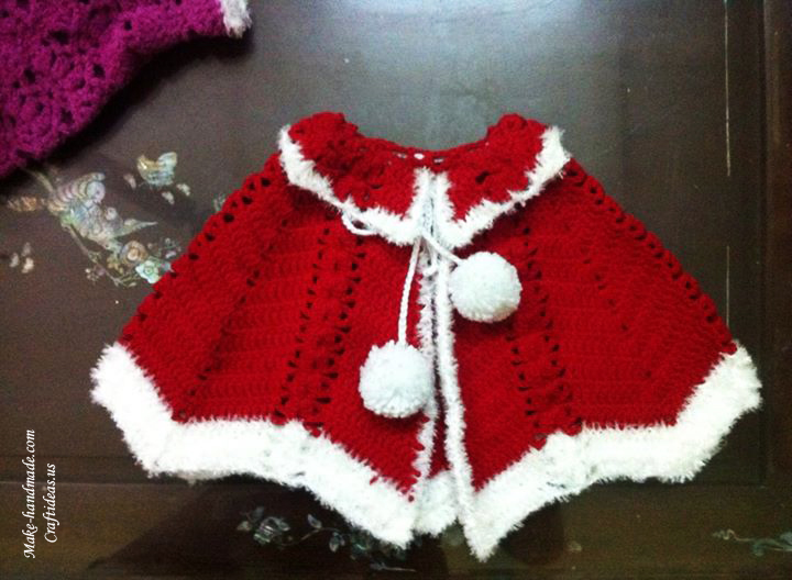 Crochet Christmas poncho ideas, crochet chart