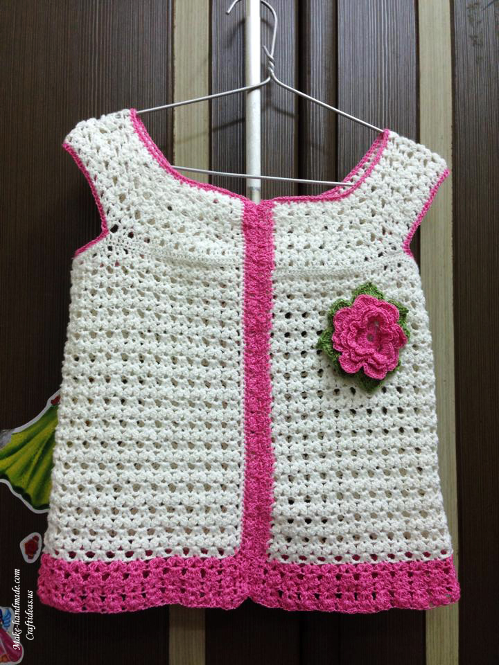 Crocheting Ideas : Crochet baby summer top for kids, crochet ideas