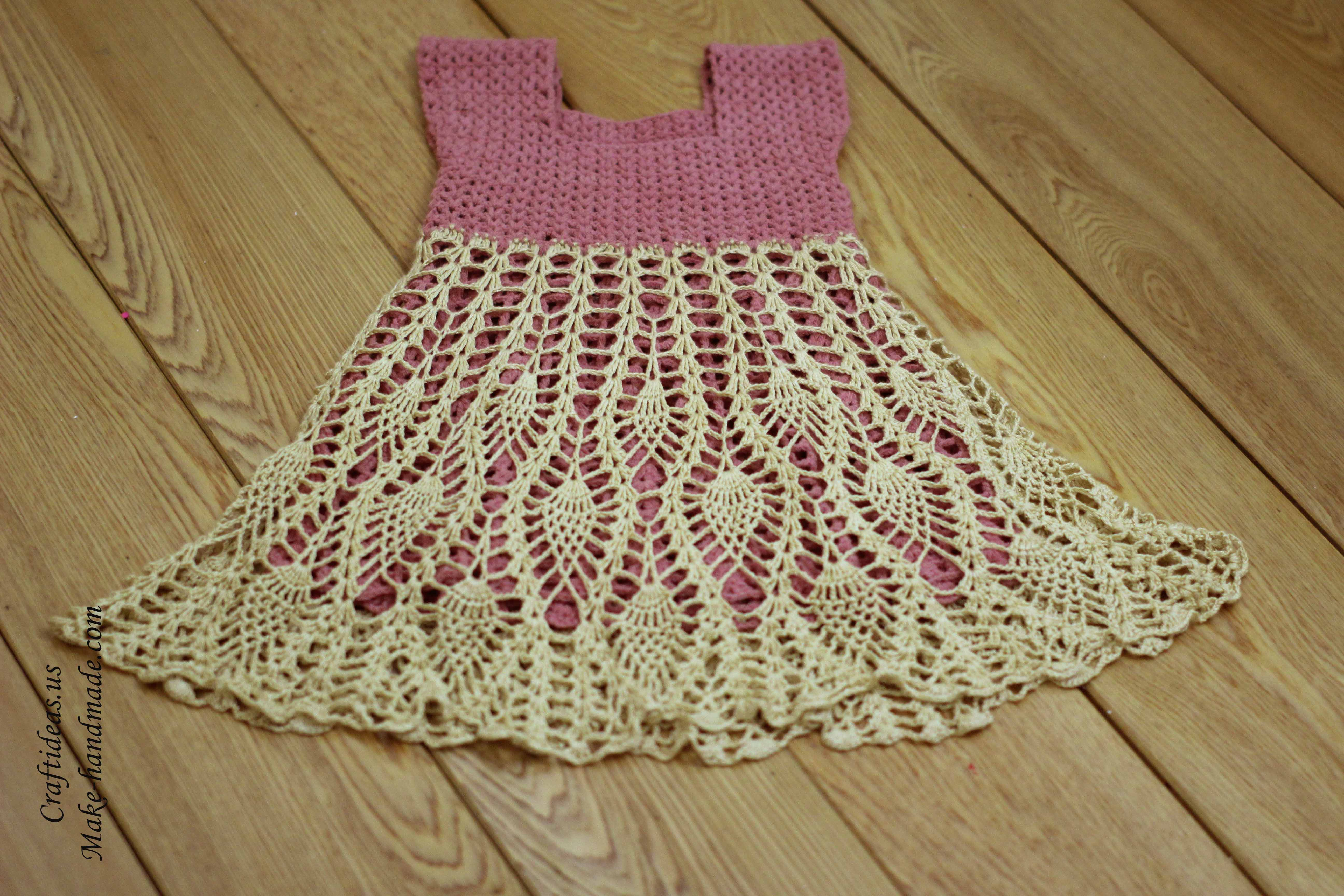 Crochet baby dress diagram images
