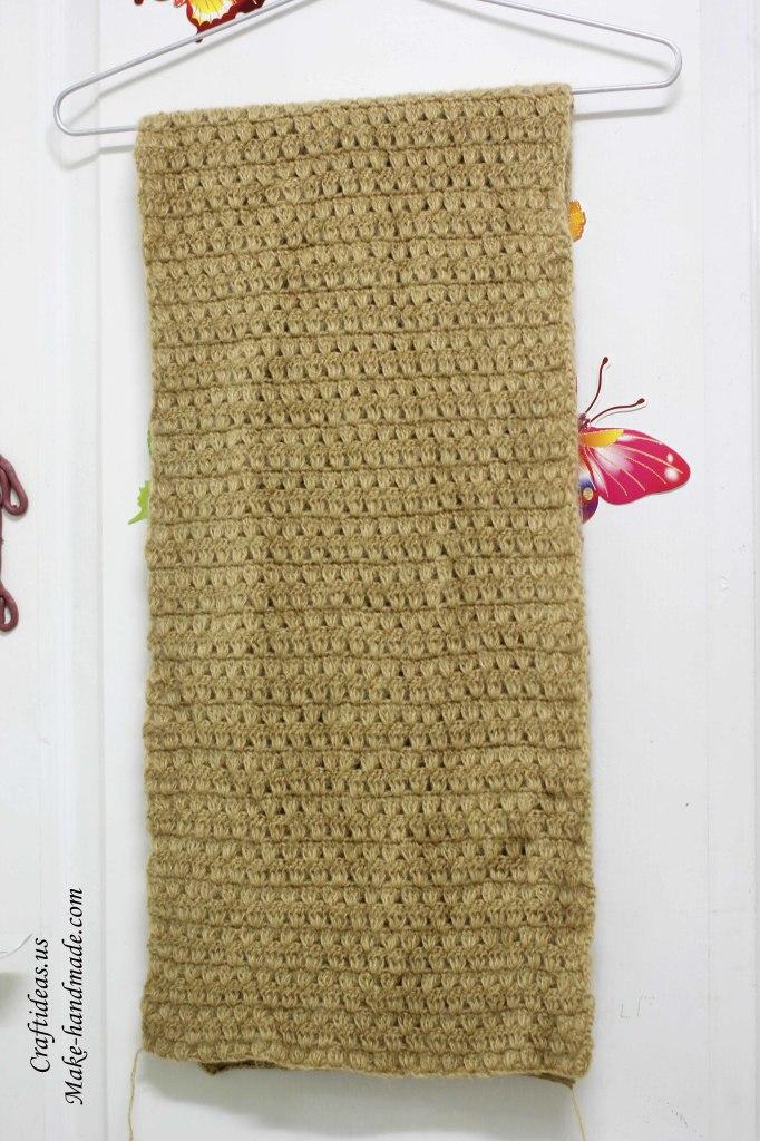 Crochet beauty cowl scarf women