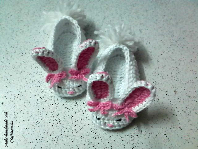 Crochet Bunny Baby Booties Pattern : Crochet cute bunny booties - Craft Ideas