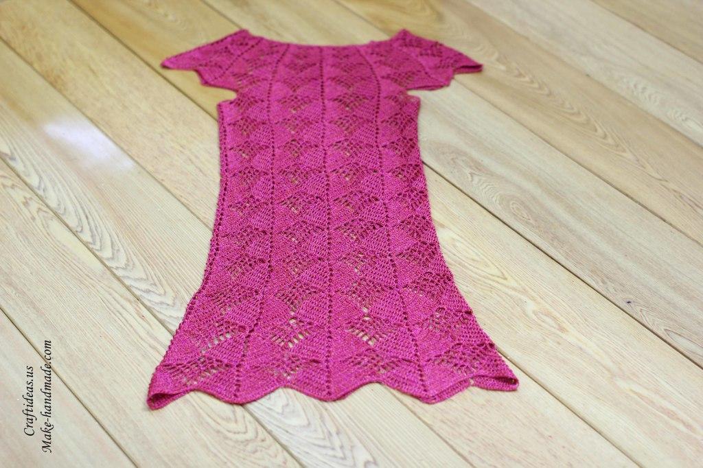 Crochet charming lace summer dress for women