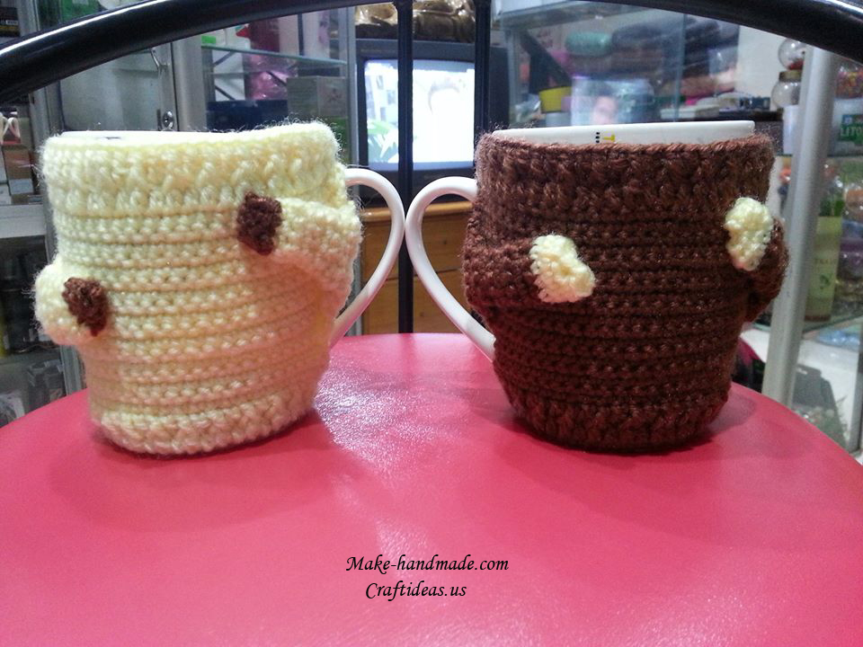 Crochet cover for couple cups ideas