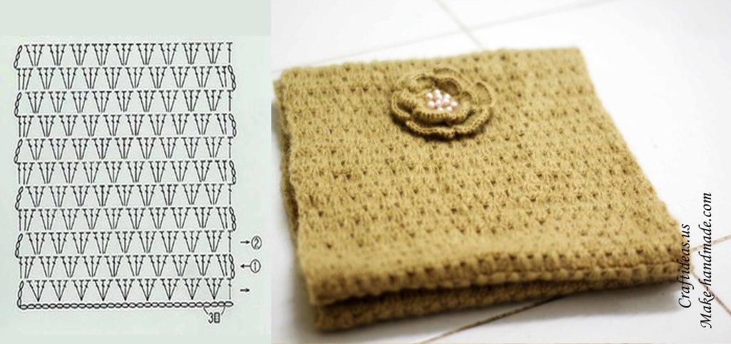 Crochet cute scarf chart