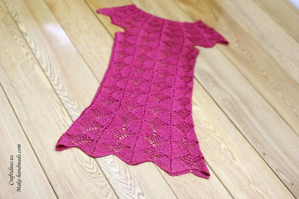 Crochet dress for summer, crochet chart