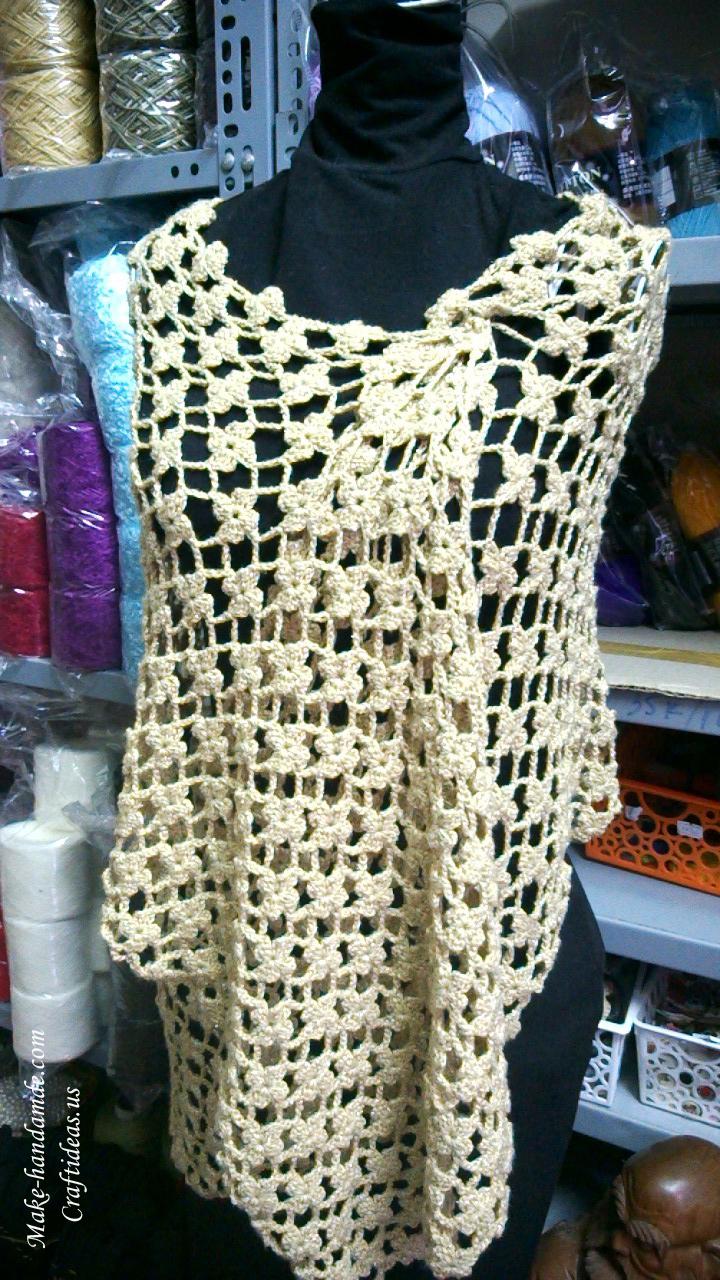 Crochet Lace Flower Scarf Idea Craft Ideas