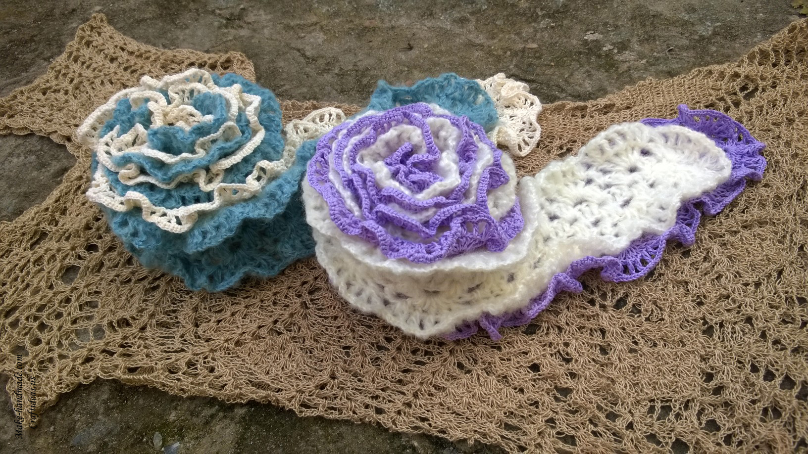 Crocheting Ideas : Crochet lace charming scarf ideas - Craft Ideas