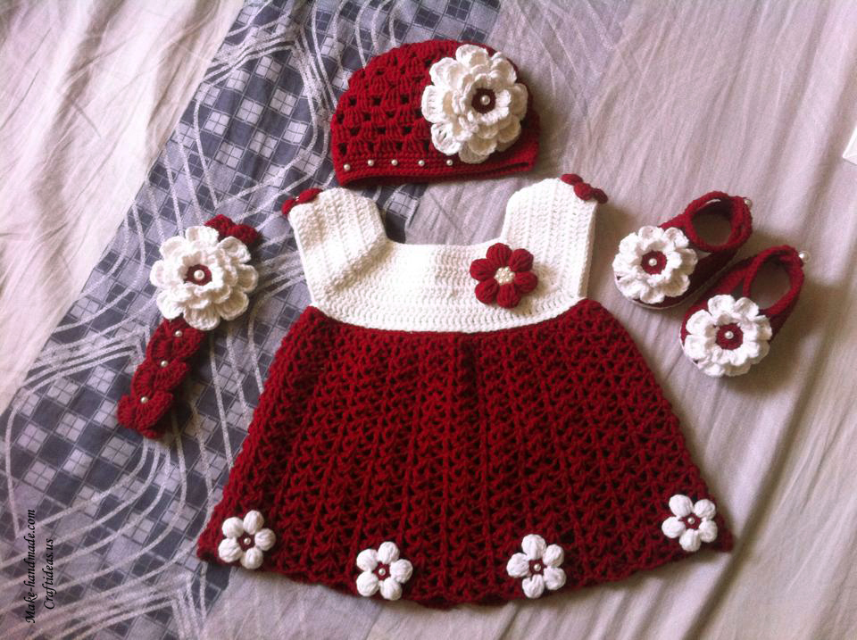Free Crochet Pattern For Christmas Dress : Crochet Christmas ideas for kids - Craft Ideas