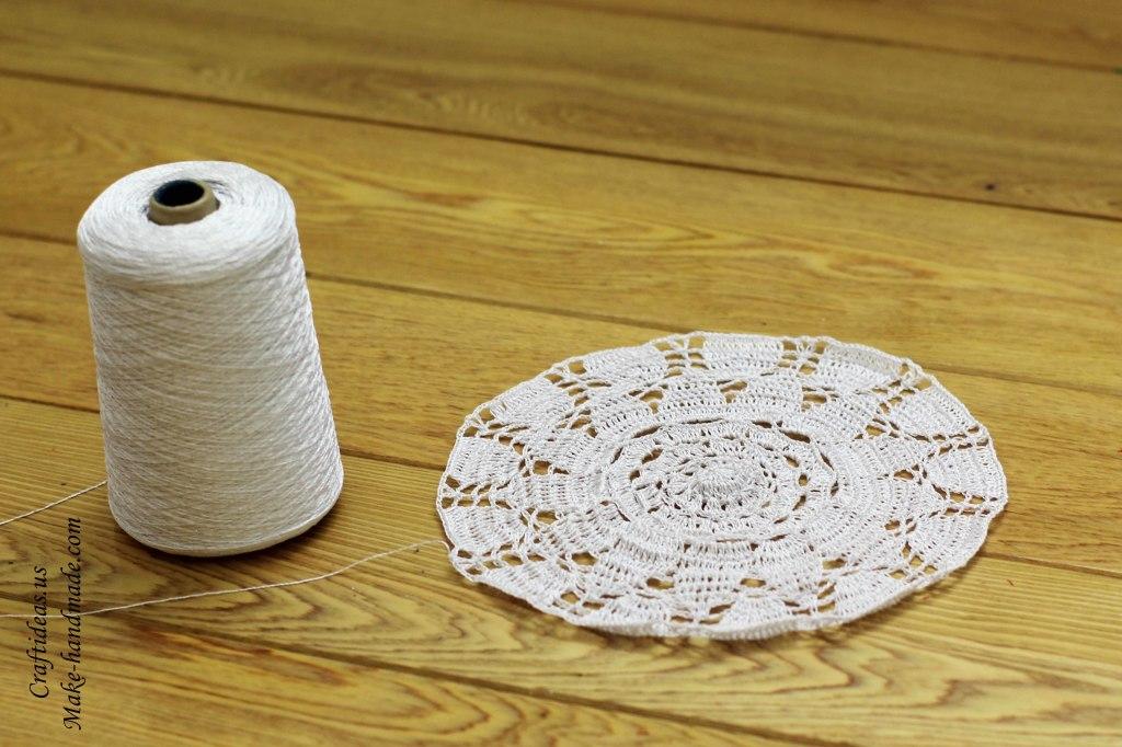 Crochet lace beauty doily