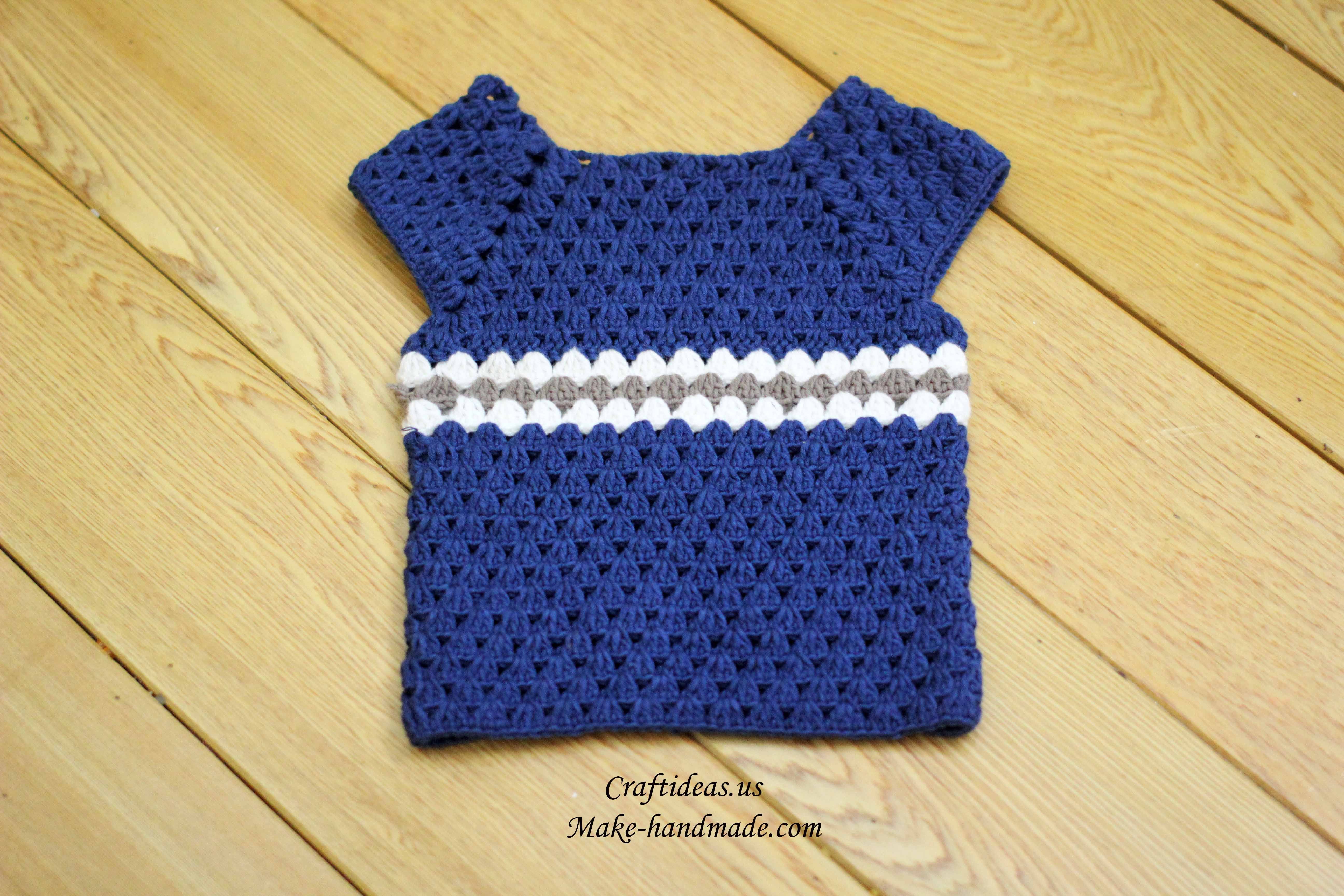 Crochet Baby Boy Gilet Idea Craft Ideas