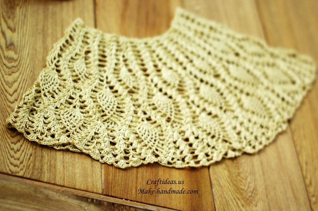 crochet lace poncho