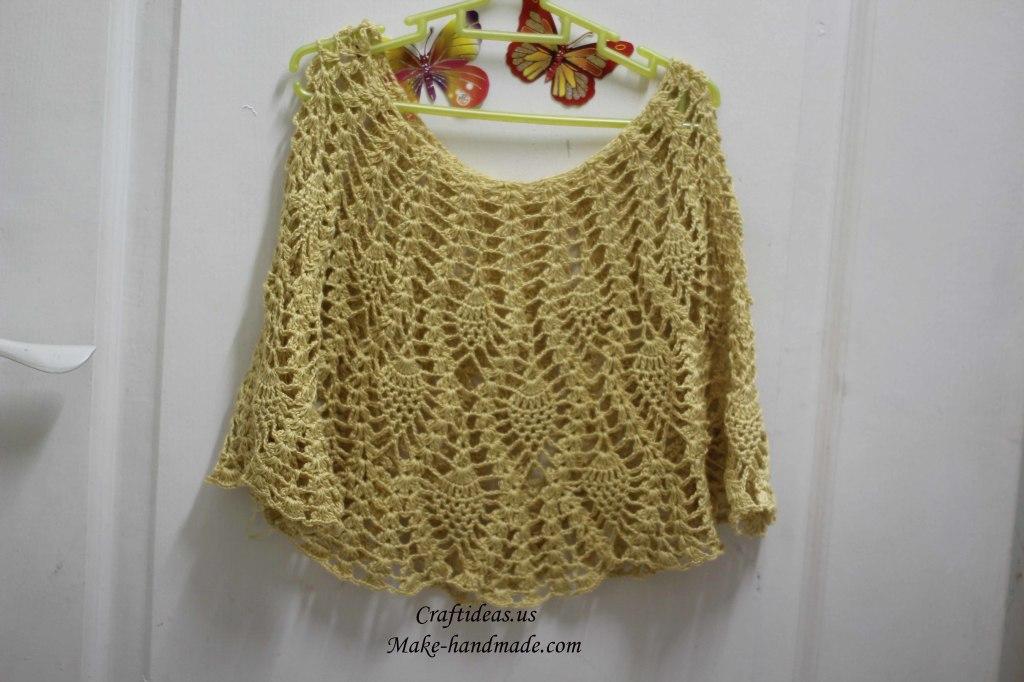 crochet pineapple poncho