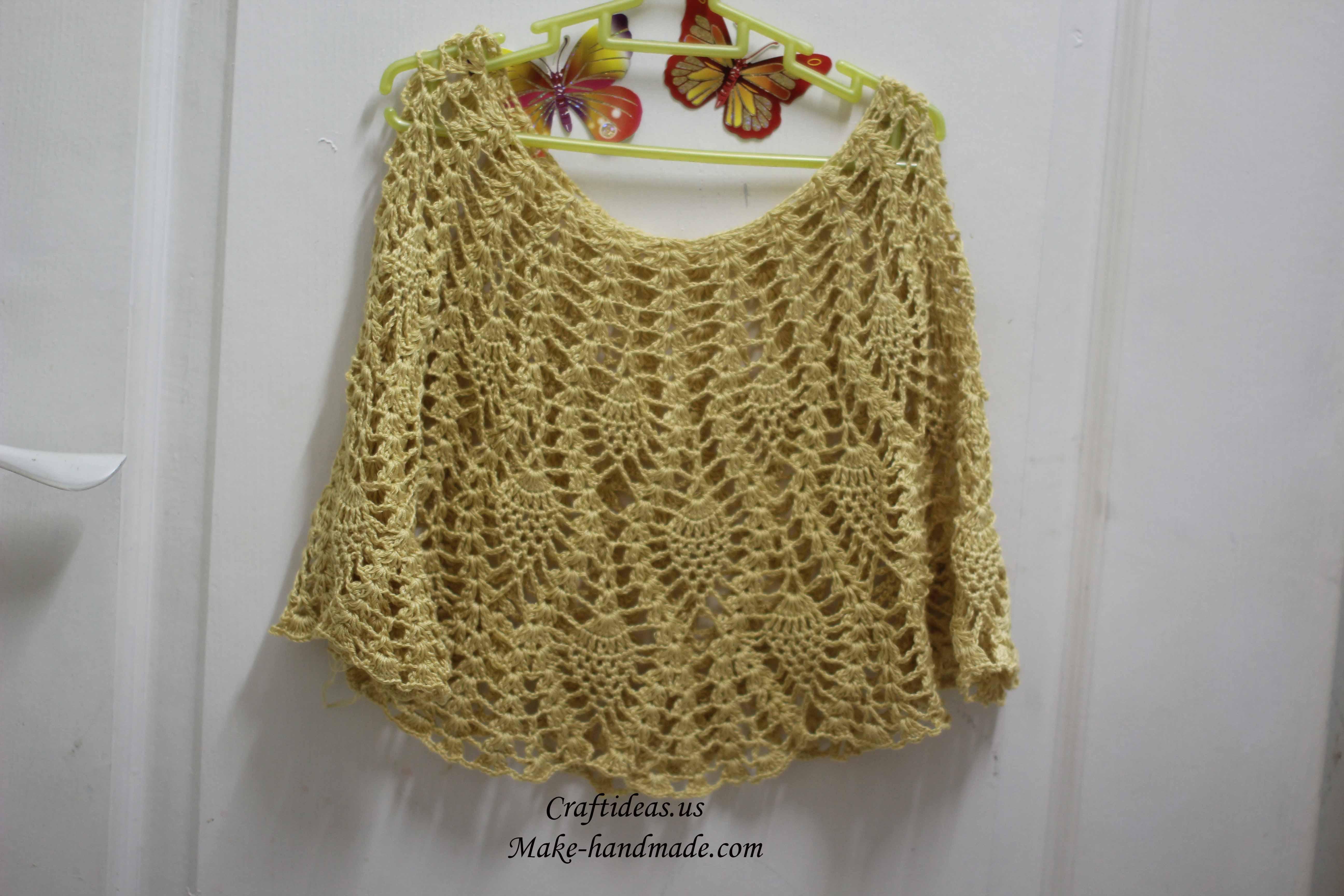 Crocheting Ideas : Crochet beautiful pineapple baby dress - Craft Ideas