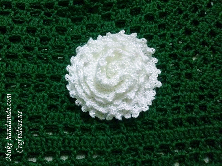 crochet rose for acessories