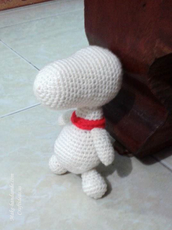 Crochet amigurumi cute little doggy