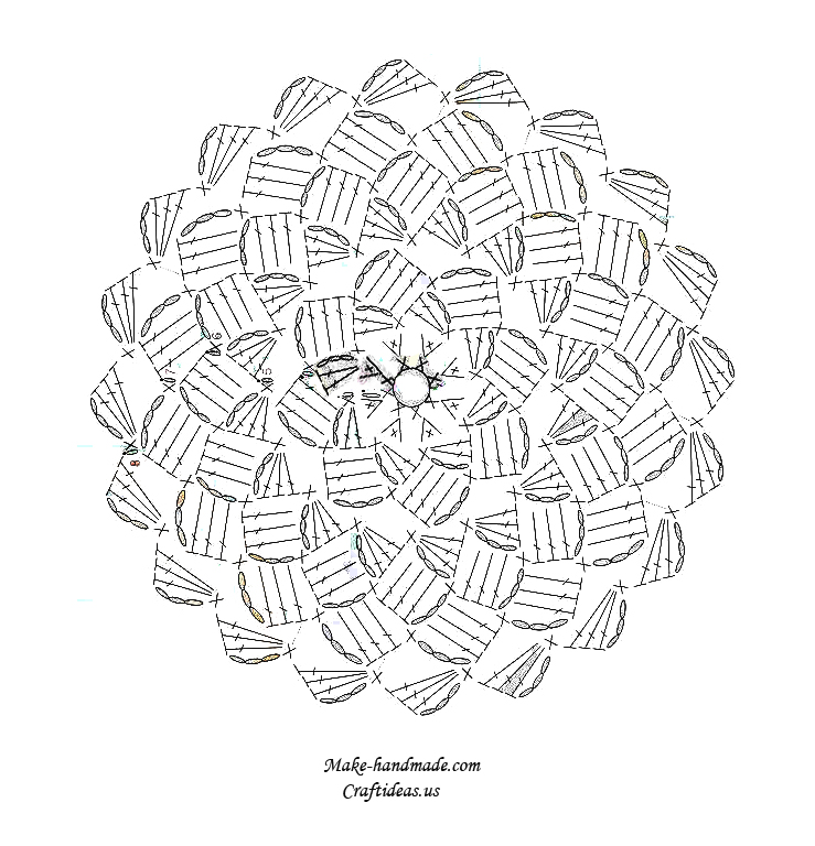 Crochet cute cabbled baby hat diagram ideas