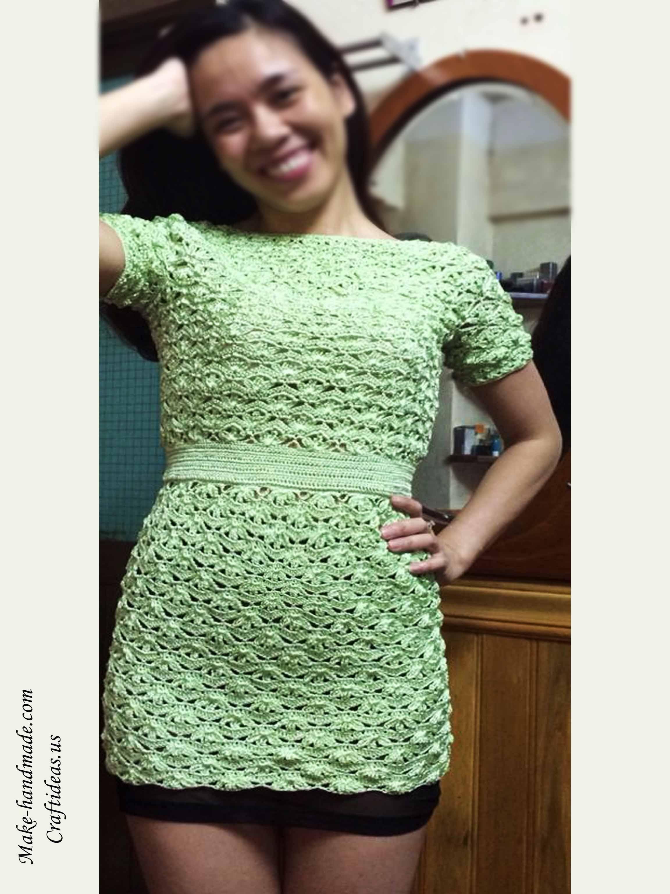 Crochet beauty summer dress for women - Craft Ideas