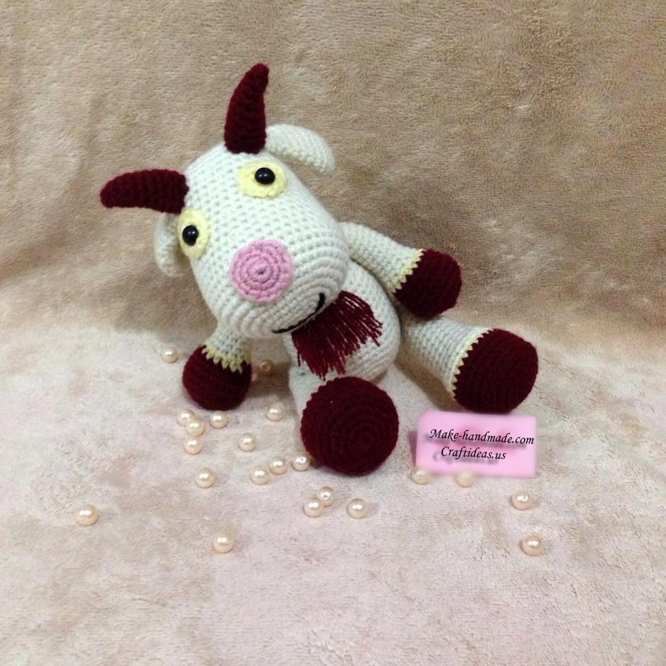 Crochet cute goat for new year gifts