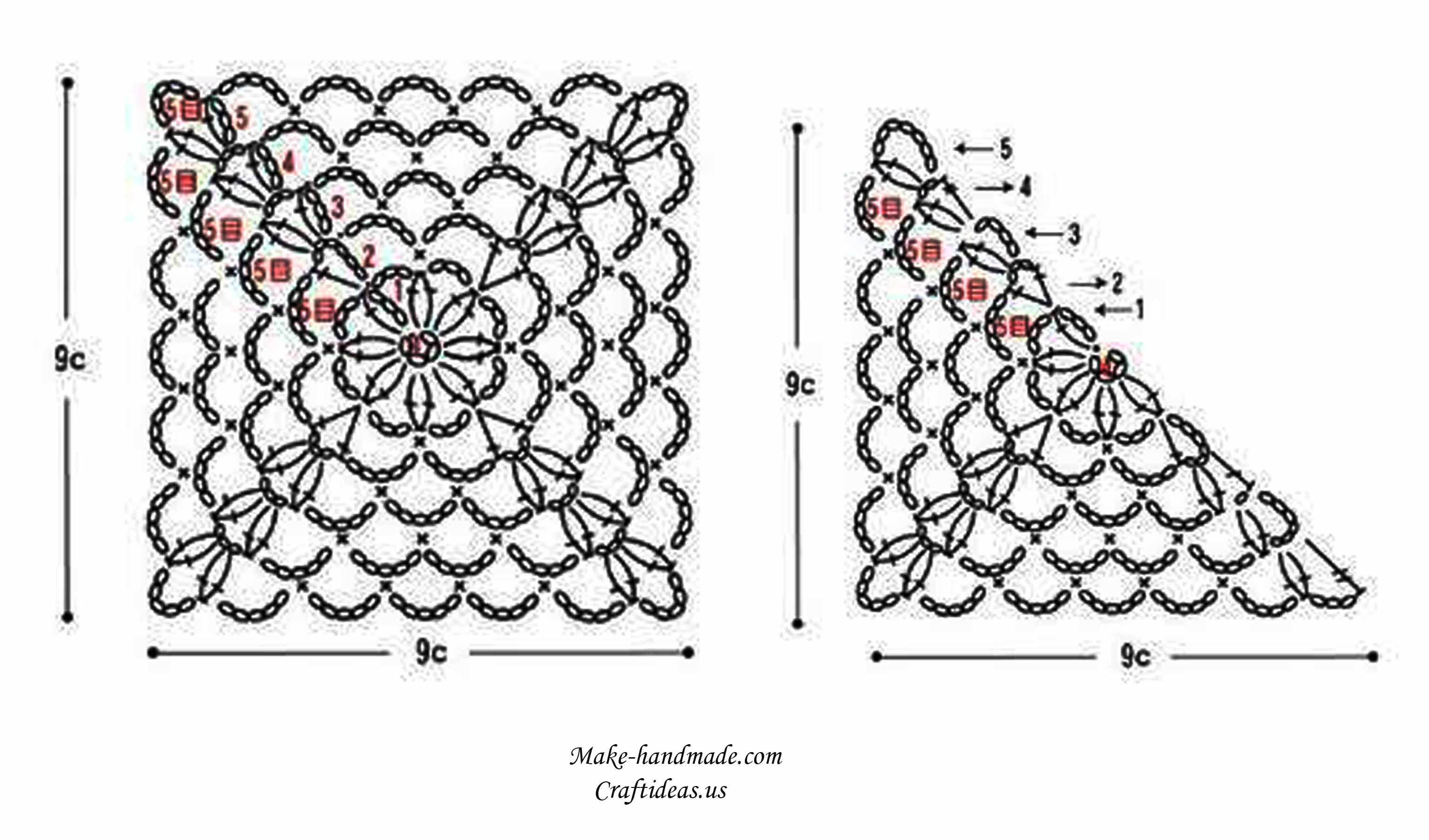 Crochet Diagram : Free Filet Crochet Heart Pattern besides Crochet Heart Pattern Diagram ...