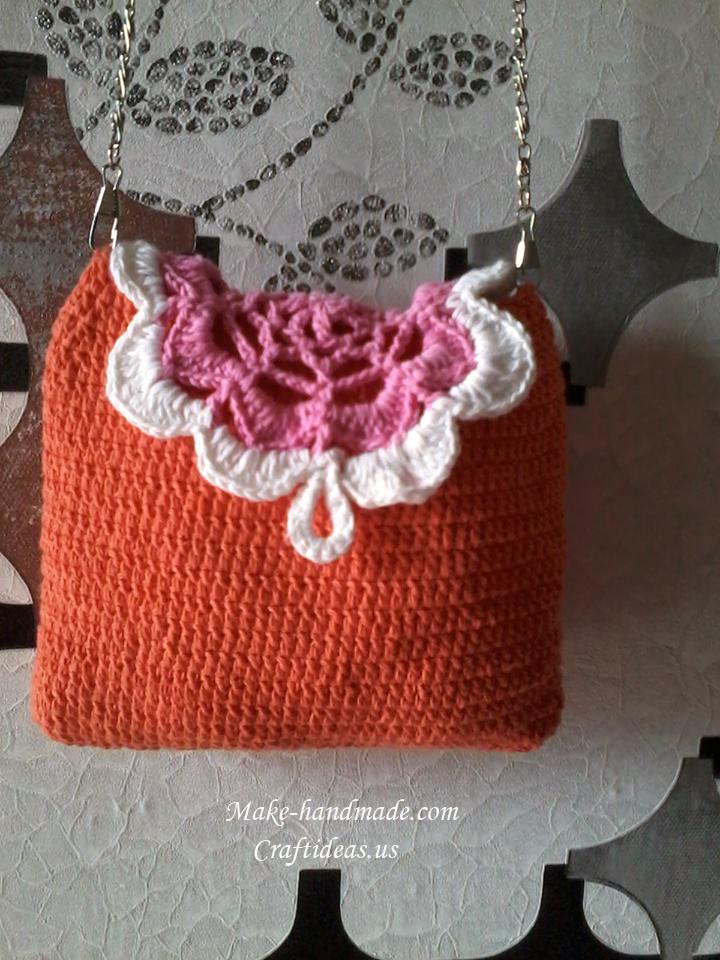Crochet Purse Ideas : Crochet easy baby purse - Craft Ideas