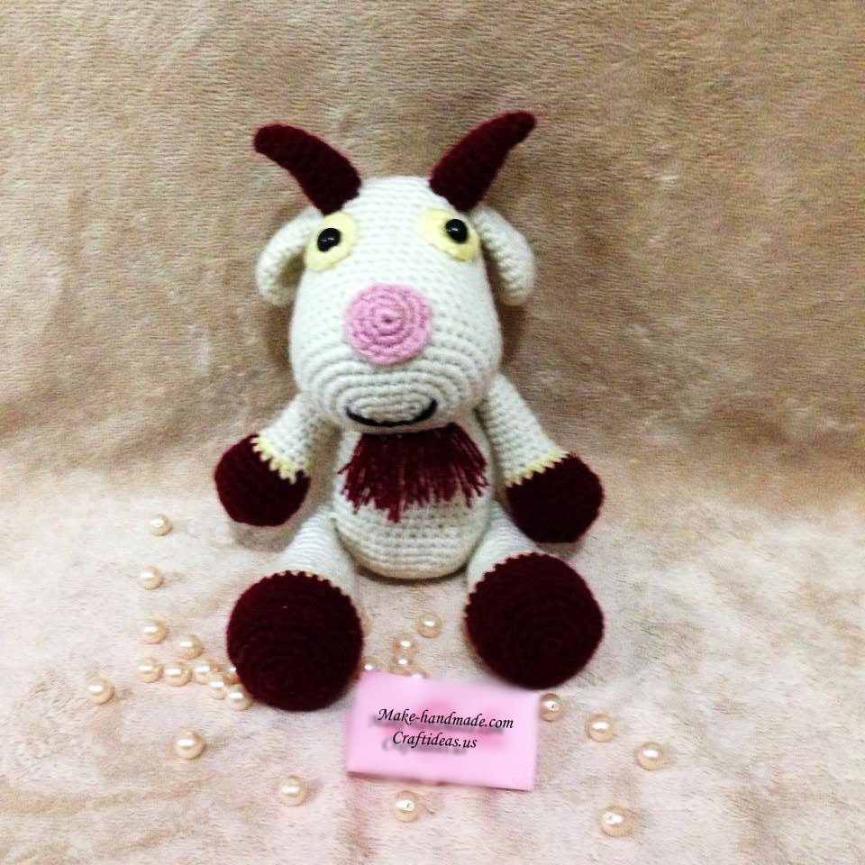 Crochet goat for new year gifts