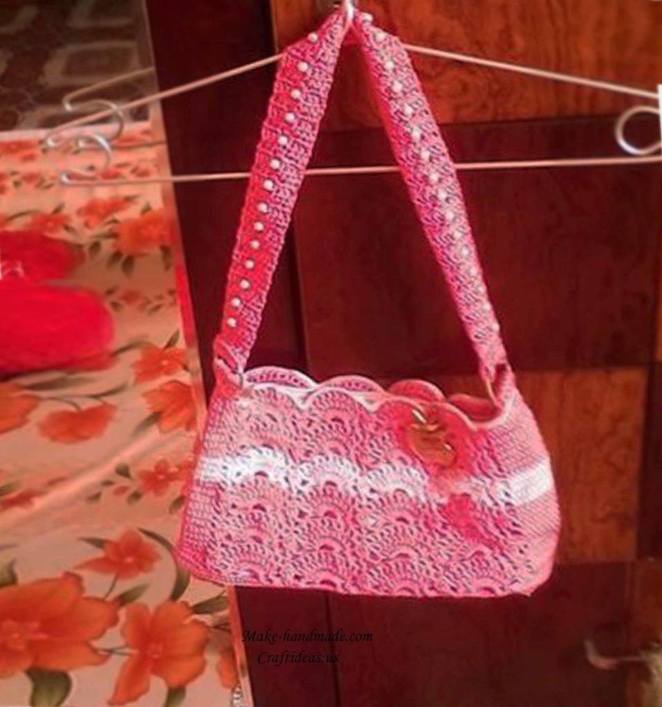 Crochet cute handbag for women craft ideas for Craft ideas for women