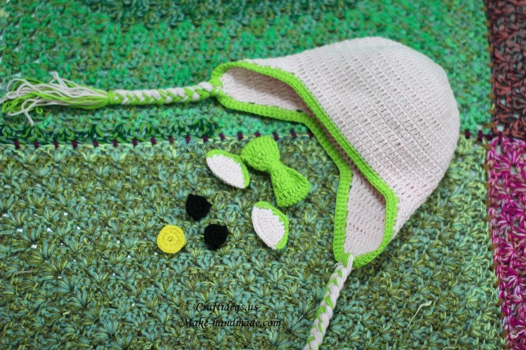 Crochet hello kitty hat for little girl ideas