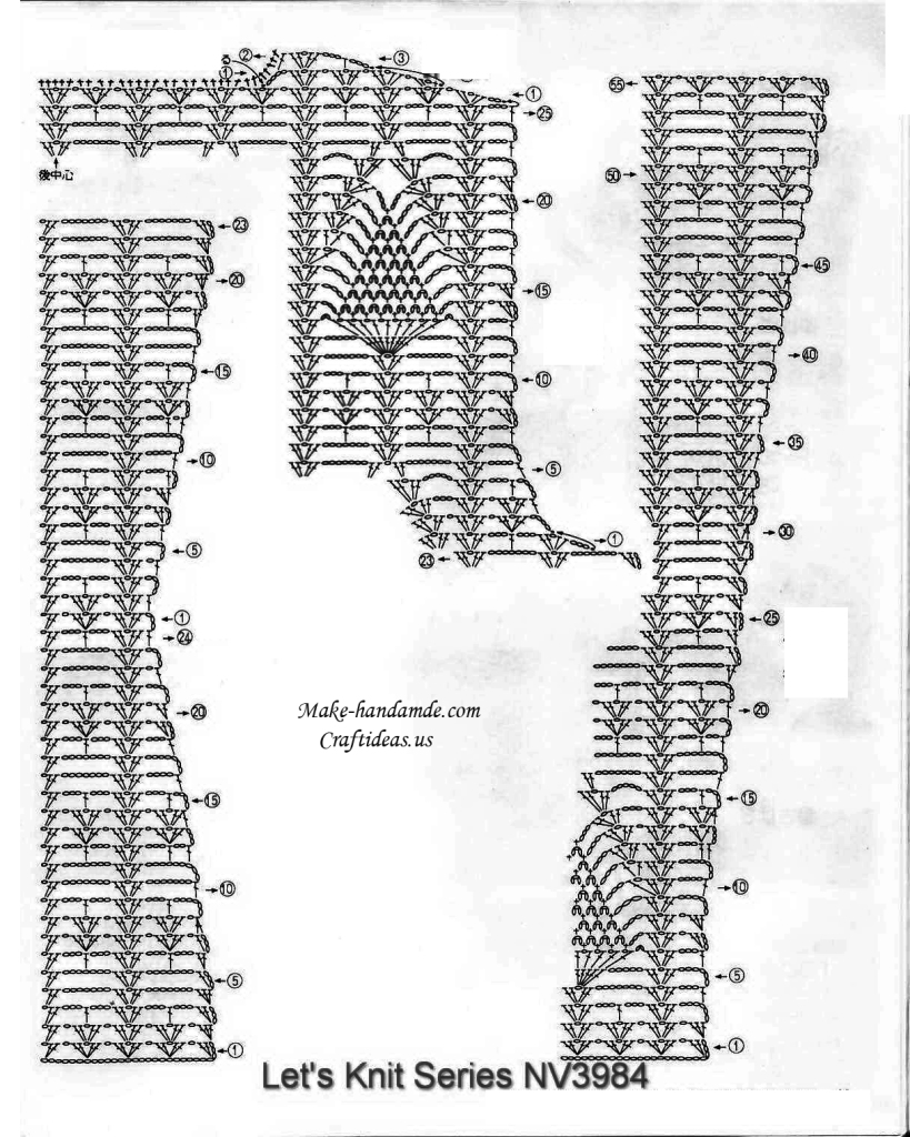 Crochet lace cardigan and vest for mum, crochet diagram